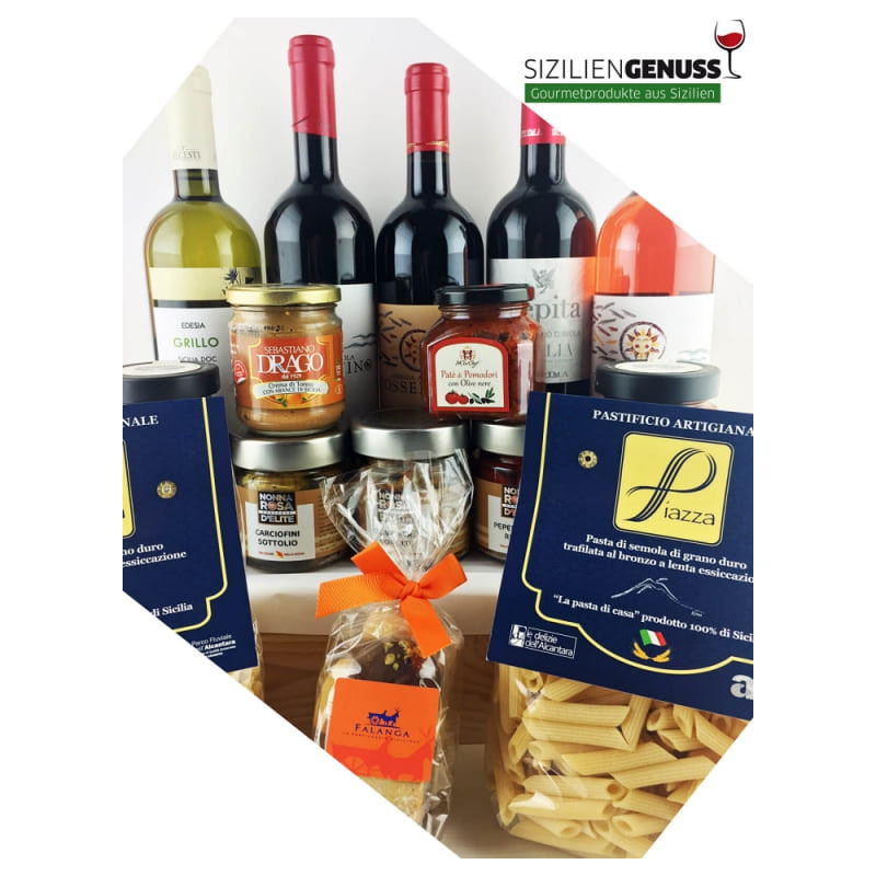 Sicilian Dinner for 6 person with 5 wines - antipasti & pastaSiziliengenuss